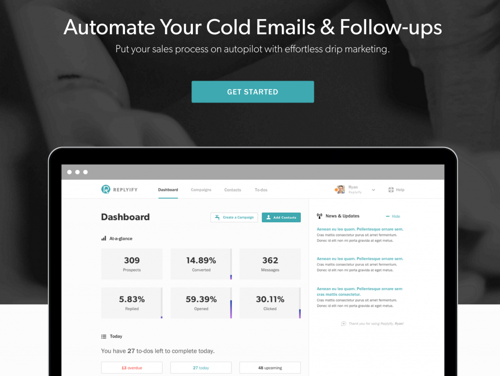 cold email, sales, and prospecting software for demand generation