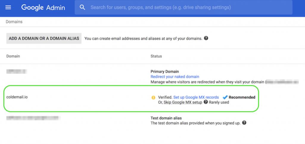 Verify Domain Google